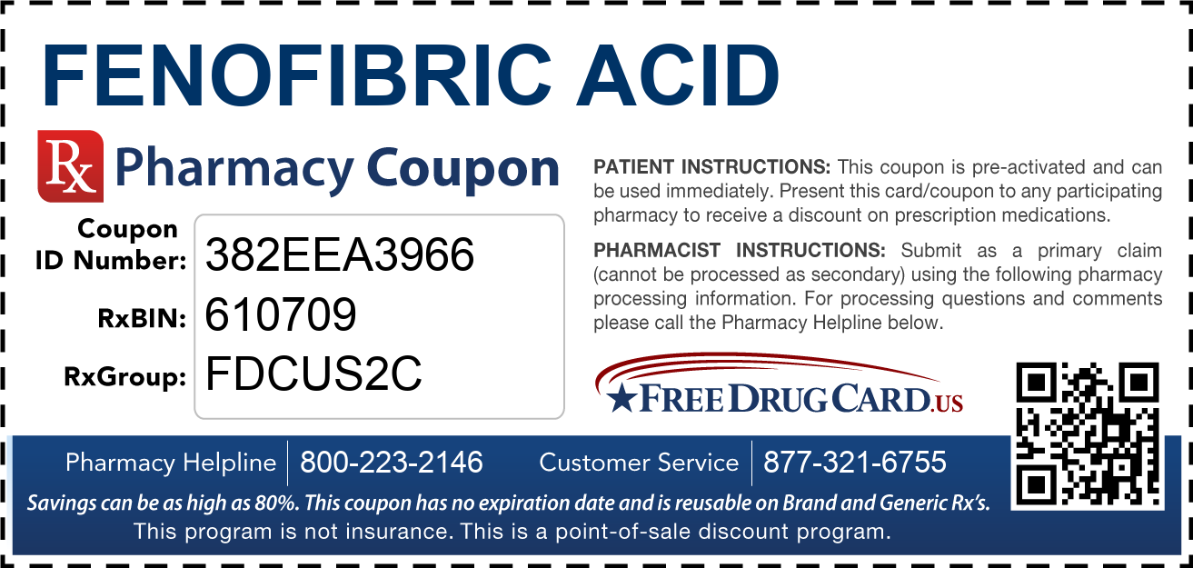 Discount Fenofibric Acid Pharmacy Drug Coupon