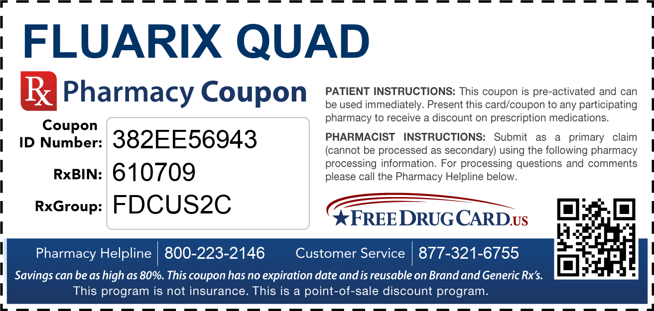 Discount Fluarix Quad Pharmacy Drug Coupon