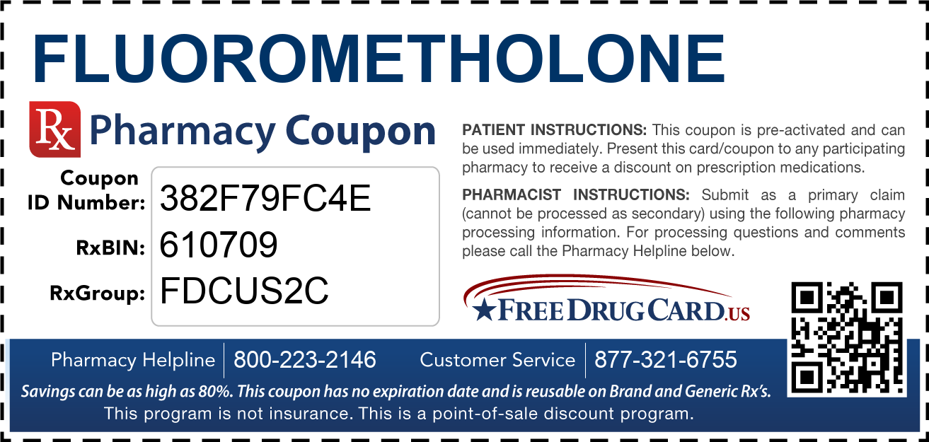 Discount Fluorometholone Pharmacy Drug Coupon