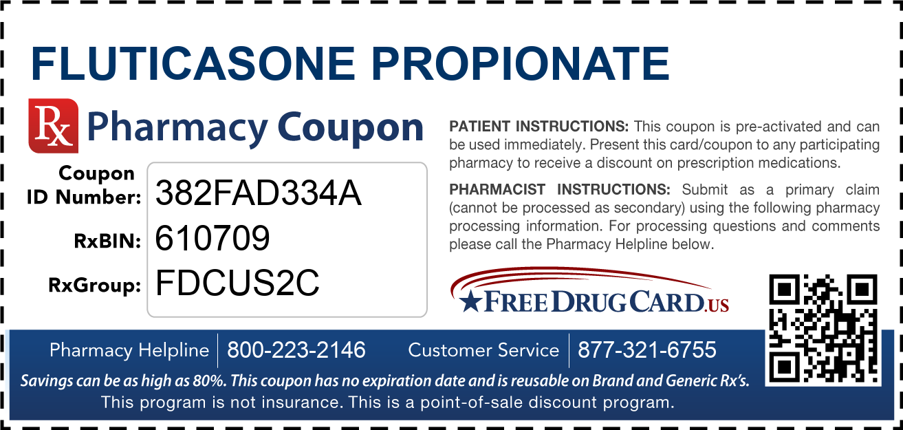 Discount Fluticasone Propionate Pharmacy Drug Coupon