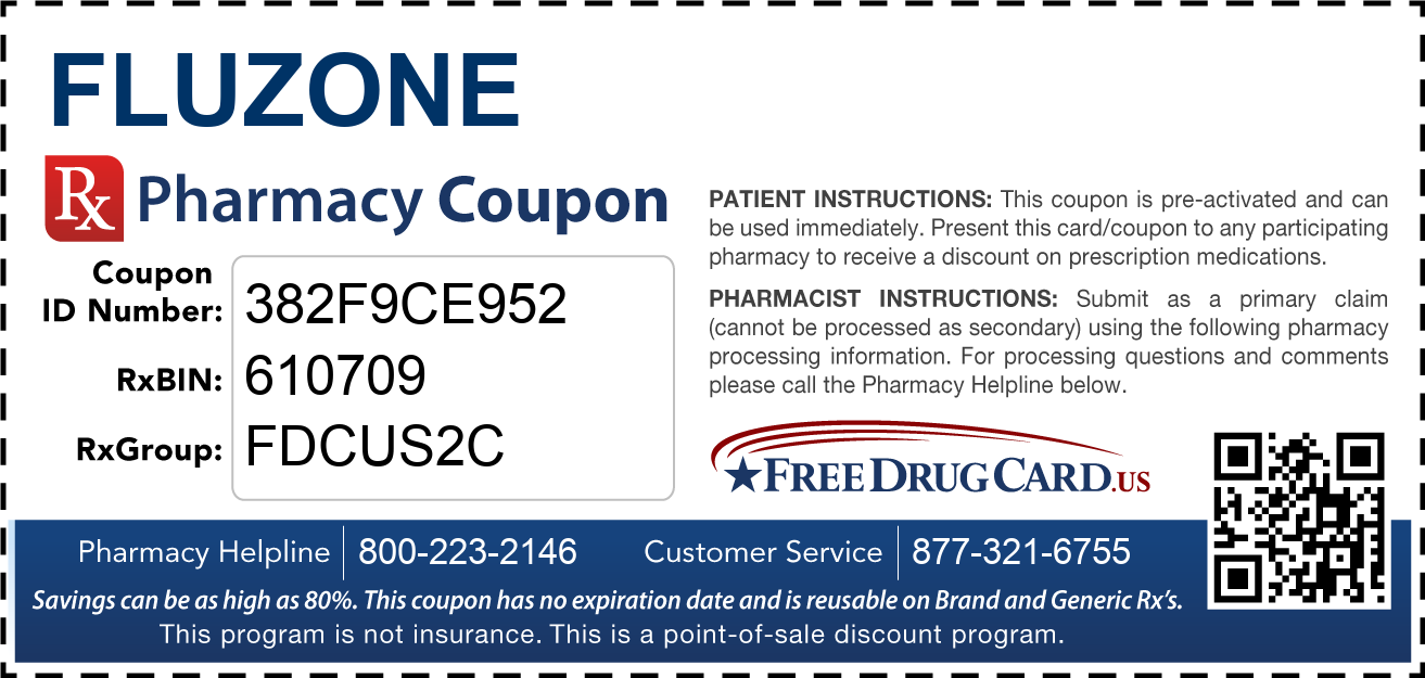 Discount Fluzone Pharmacy Drug Coupon