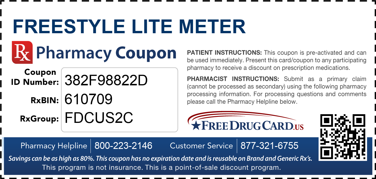 freestyle lite meter coupon free prescription savings at