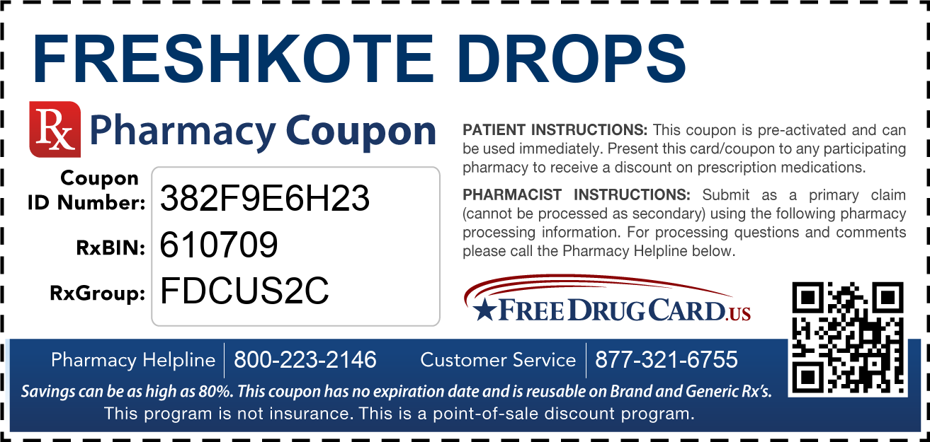 Discount FreshKote Drops Pharmacy Drug Coupon