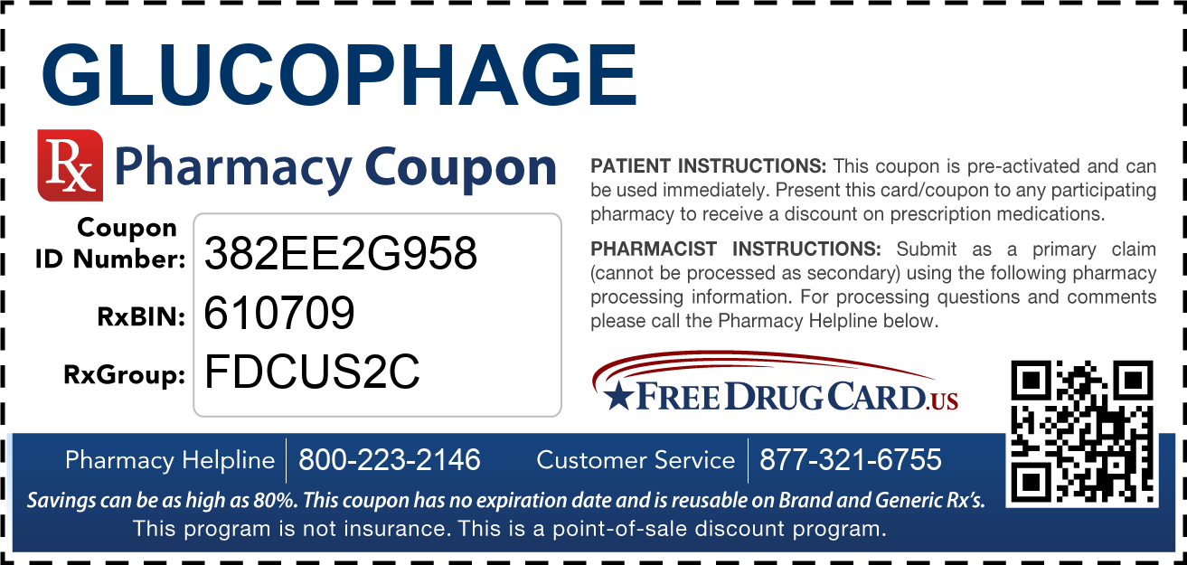 Discount Glucophage Pharmacy Drug Coupon