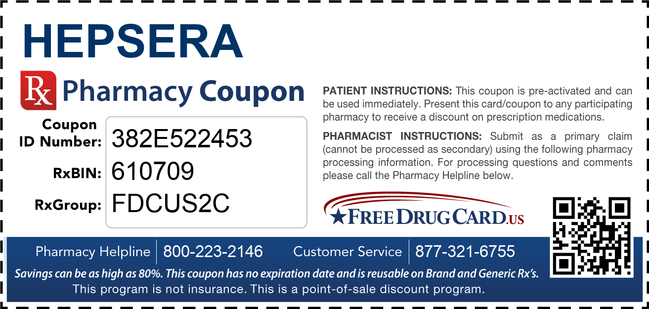 Discount Hepsera Pharmacy Drug Coupon