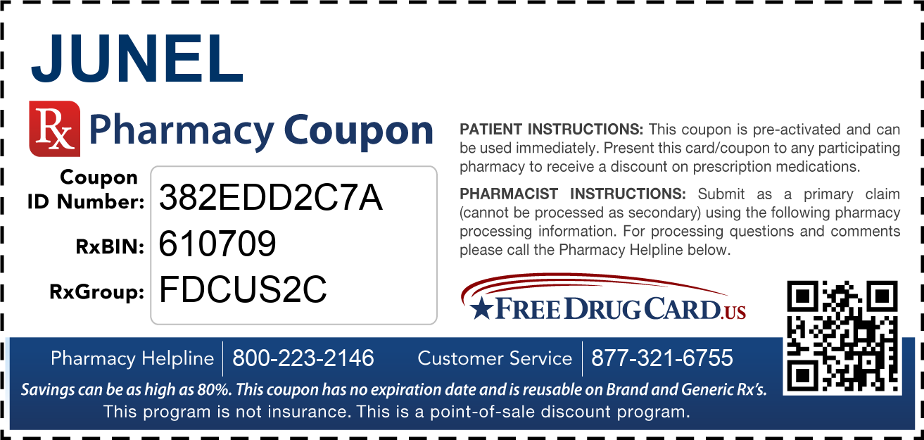 Discount Junel Pharmacy Drug Coupon