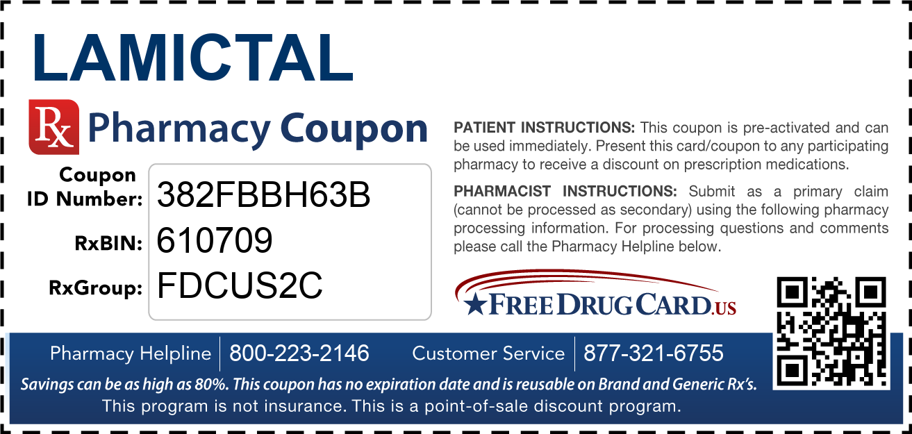 Discount Lamictal Pharmacy Drug Coupon