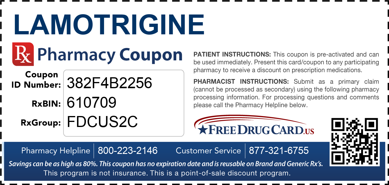 Discount Lamotrigine Pharmacy Drug Coupon