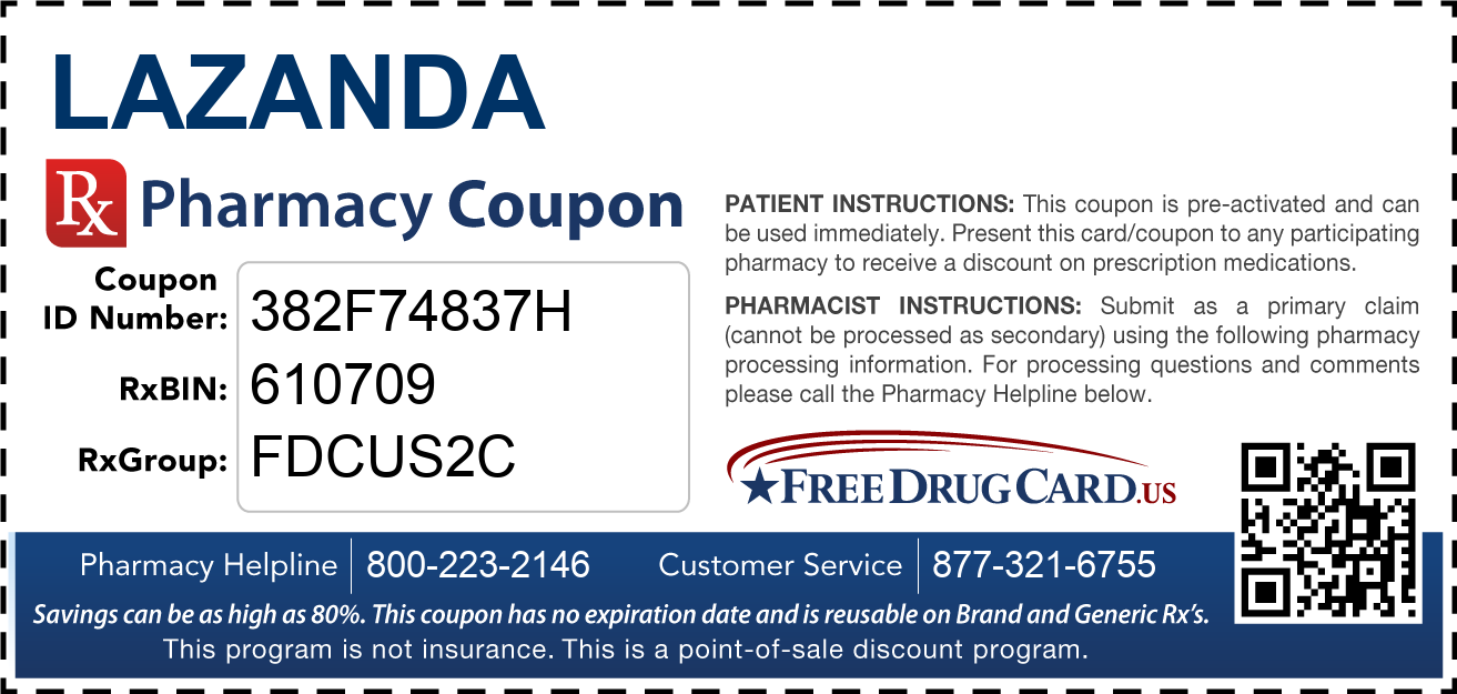 Discount Lazanda Pharmacy Drug Coupon