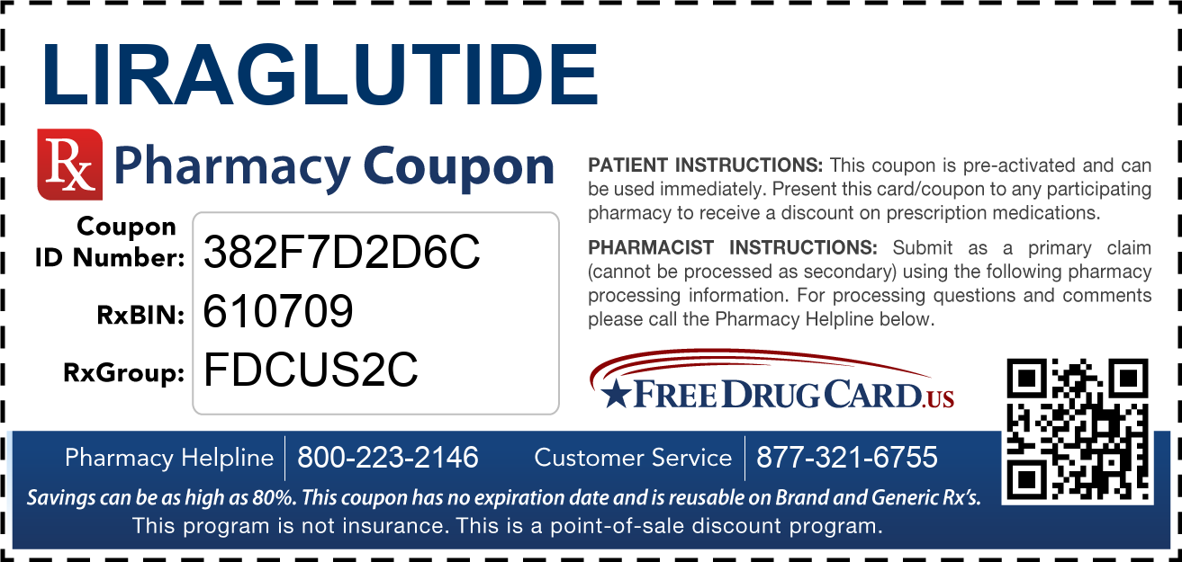 Discount Liraglutide Pharmacy Drug Coupon