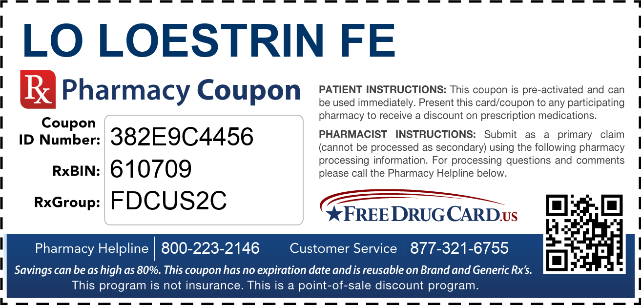 Discount Lo Loestrin Fe Pharmacy Drug Coupon