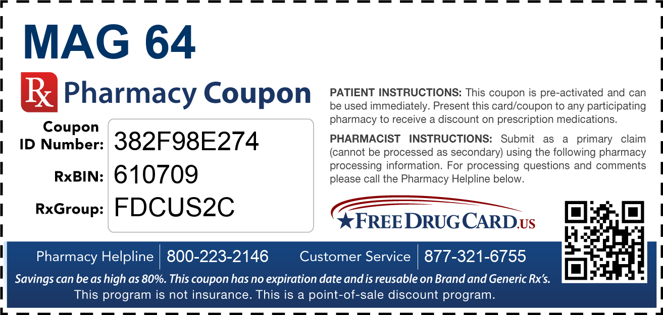 Discount Mag 64 Pharmacy Drug Coupon