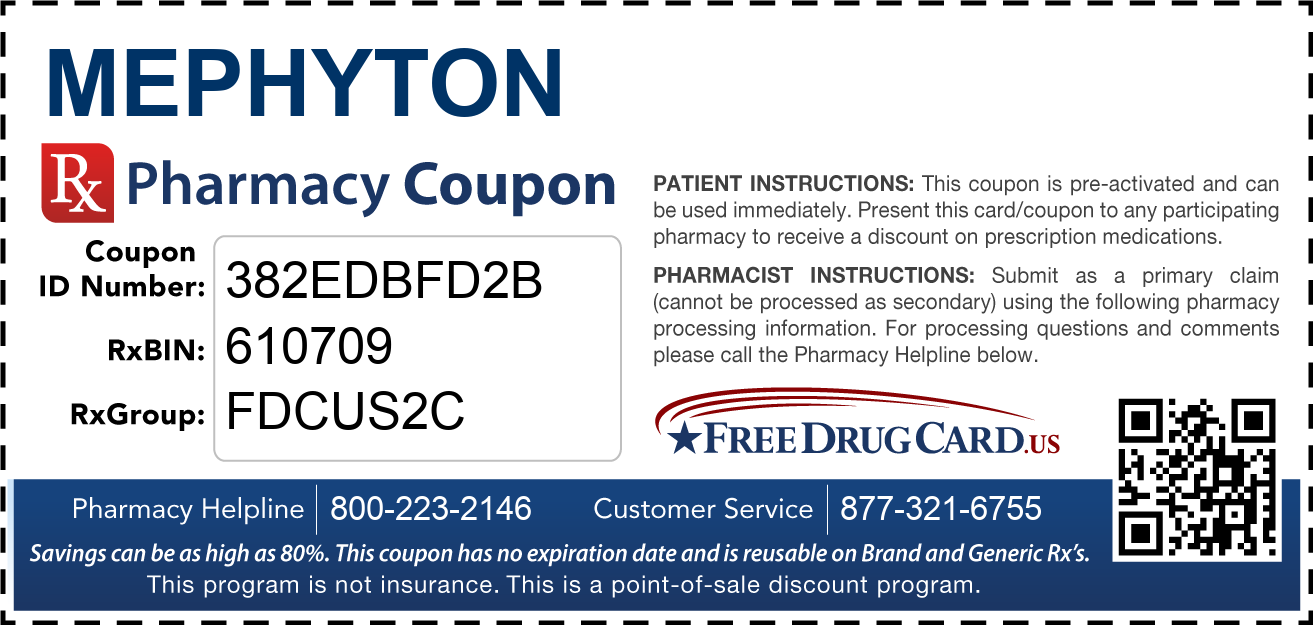 Discount Mephyton Pharmacy Drug Coupon
