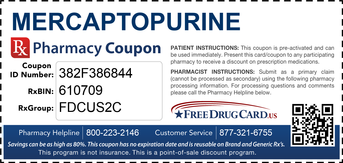 Discount Mercaptopurine Pharmacy Drug Coupon