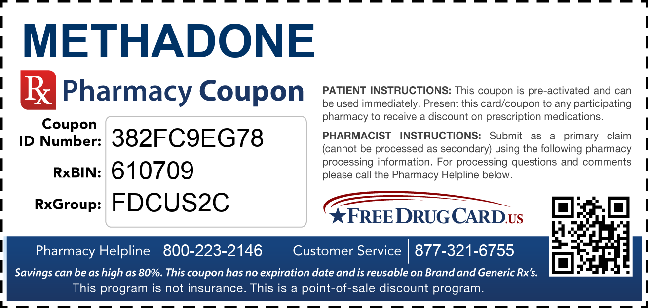 Discount Methadone Pharmacy Drug Coupon