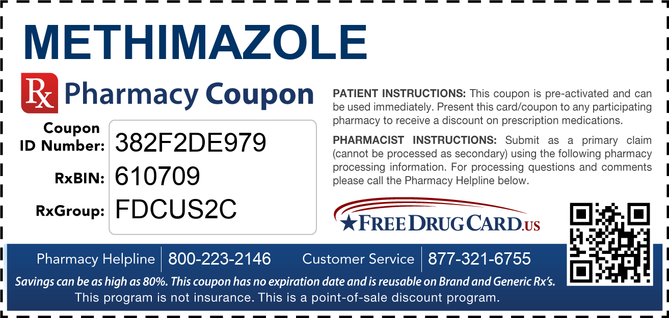 Discount Methimazole Pharmacy Drug Coupon