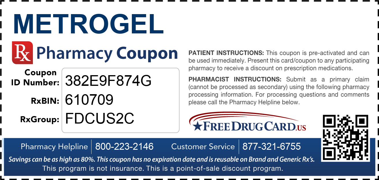 Discount MetroGel Pharmacy Drug Coupon