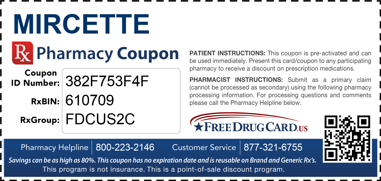 Mircette Coupon Free Prescription Savings At Pharmacies Nationwide