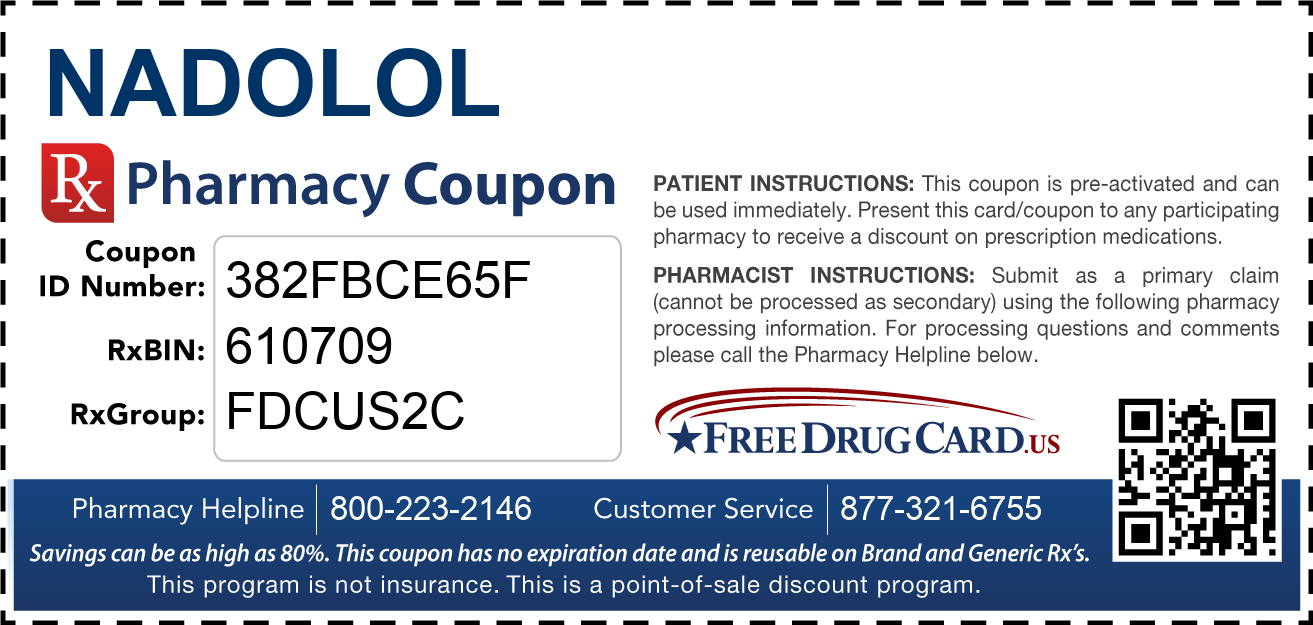 Discount Nadolol Pharmacy Drug Coupon