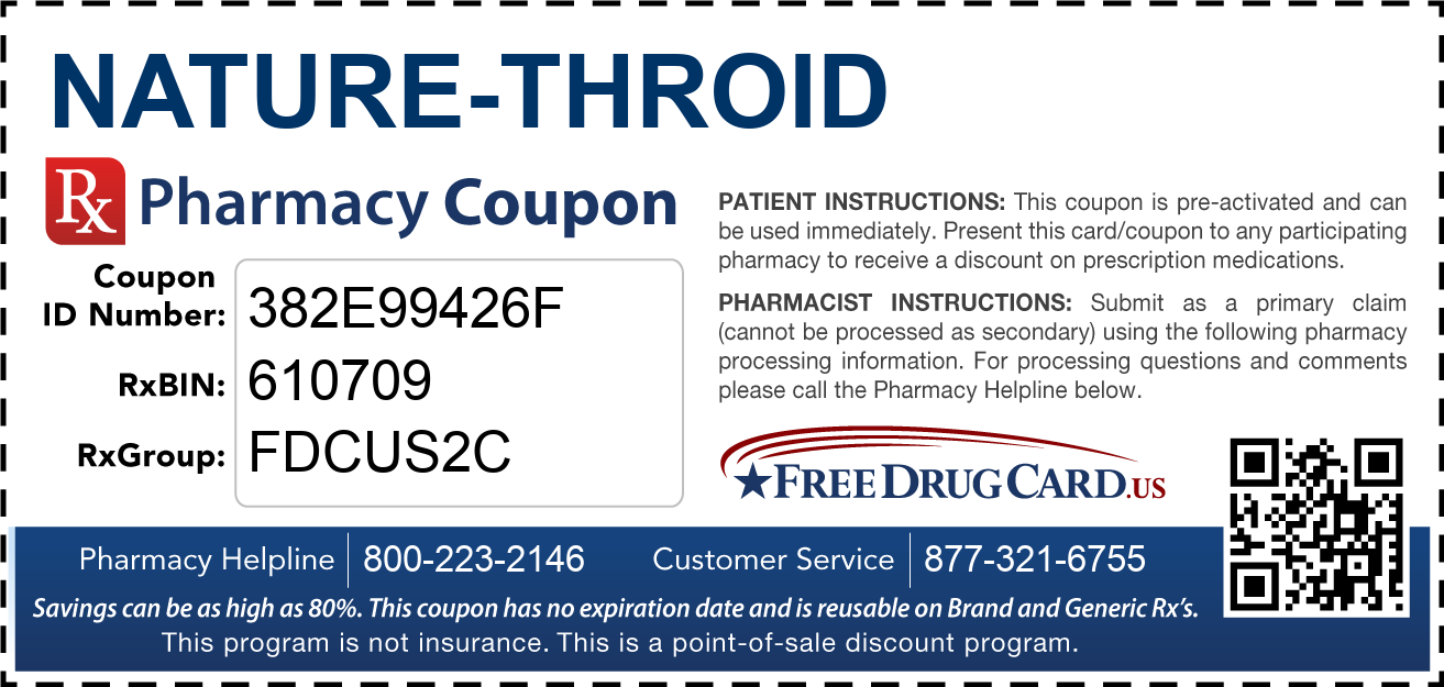 Discount Nature-Throid Pharmacy Drug Coupon