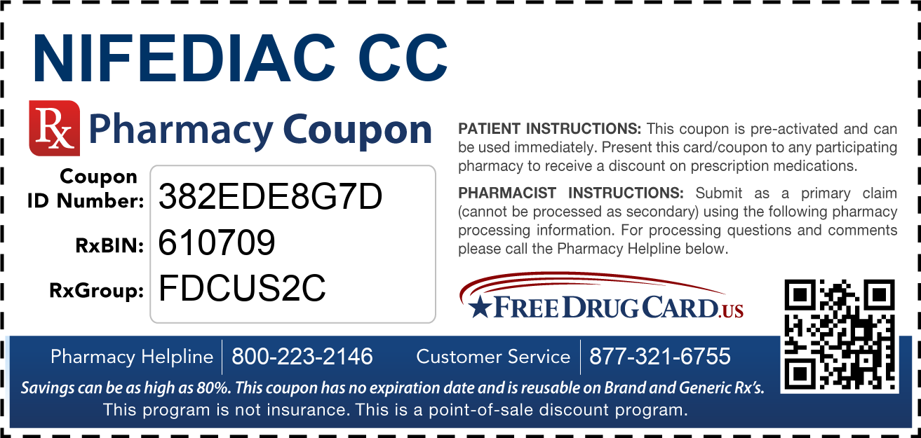 Discount Nifediac CC Pharmacy Drug Coupon