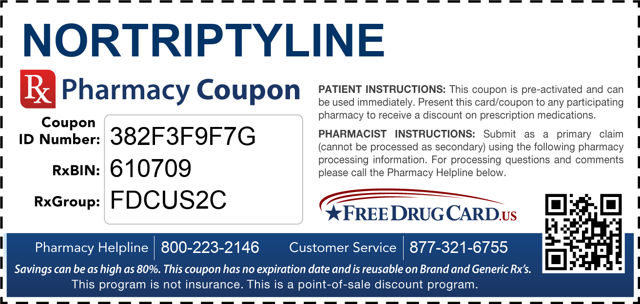 Discount Nortriptyline Pharmacy Drug Coupon