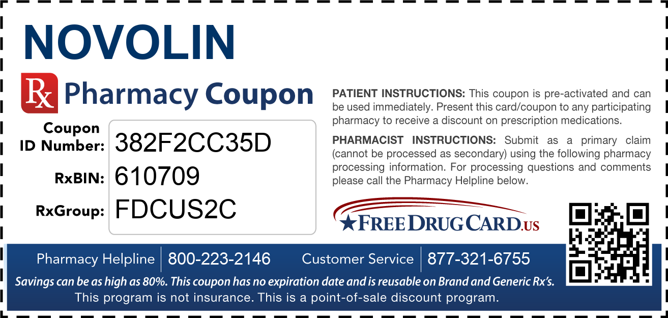 Discount Novolin Pharmacy Drug Coupon