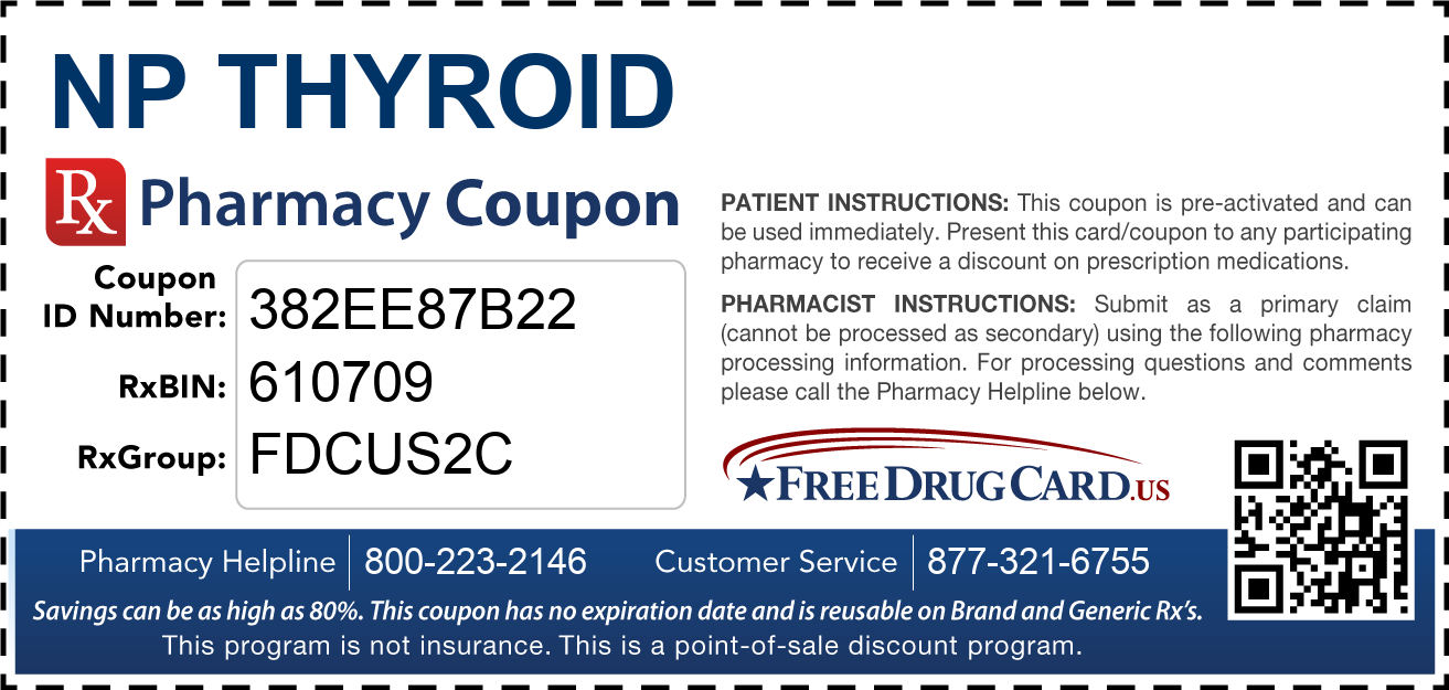 Discount NP Thyroid Pharmacy Drug Coupon