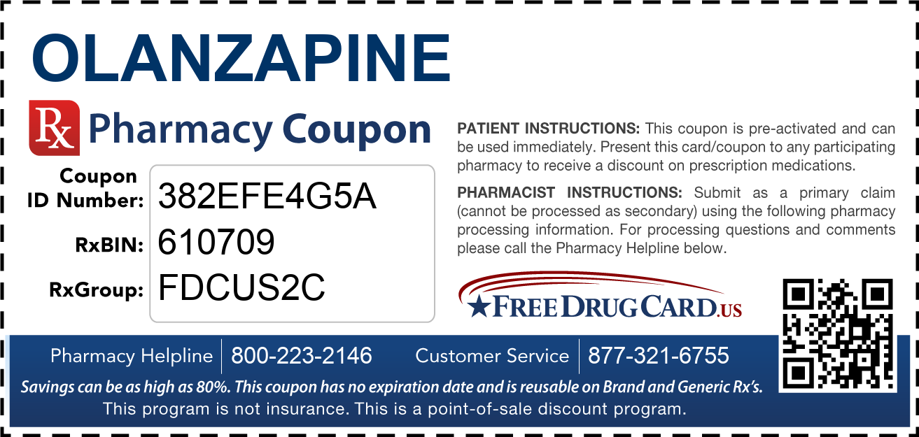Discount Olanzapine Pharmacy Drug Coupon