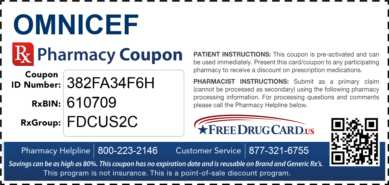 Discount Omnicef Pharmacy Drug Coupon