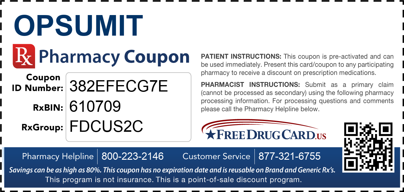 Discount Opsumit Pharmacy Drug Coupon