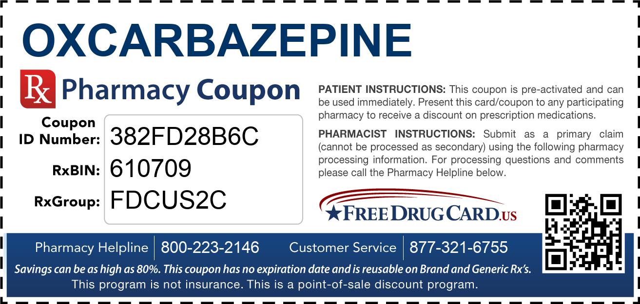 Discount Oxcarbazepine Pharmacy Drug Coupon
