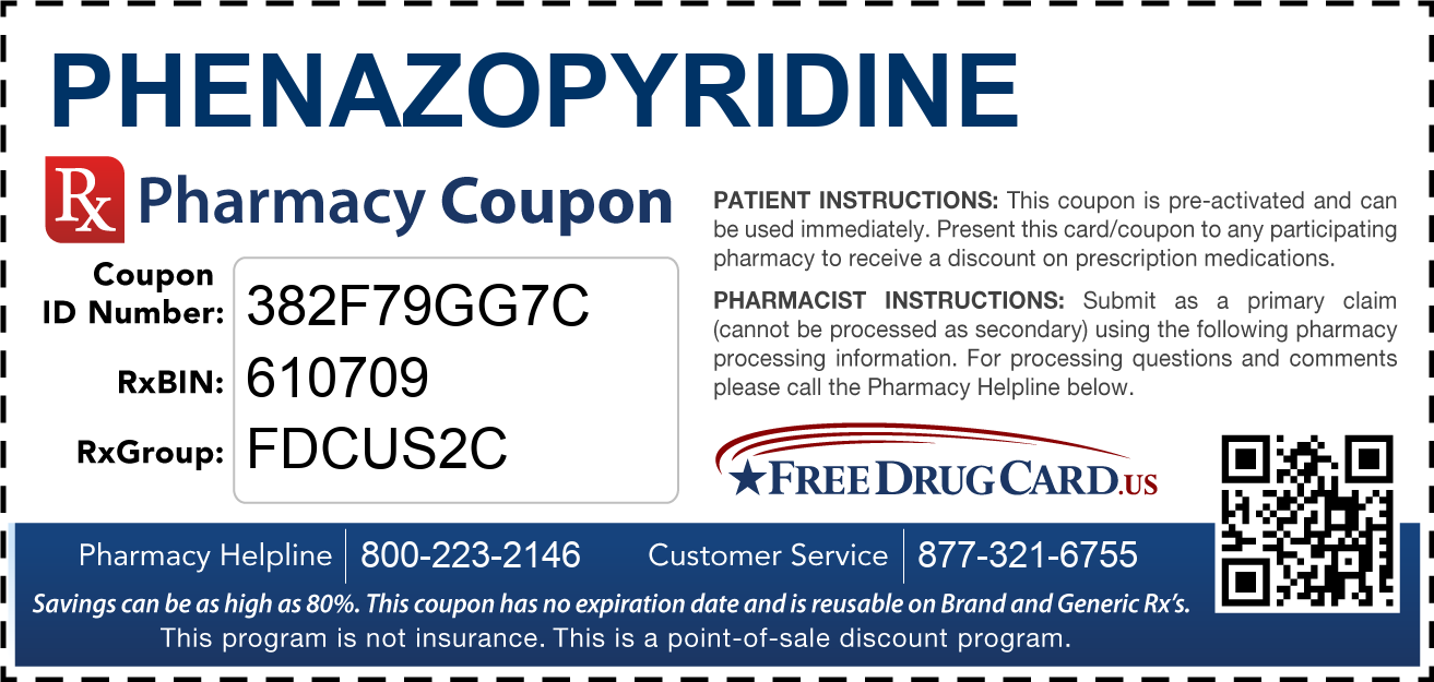 Discount Phenazopyridine Pharmacy Drug Coupon
