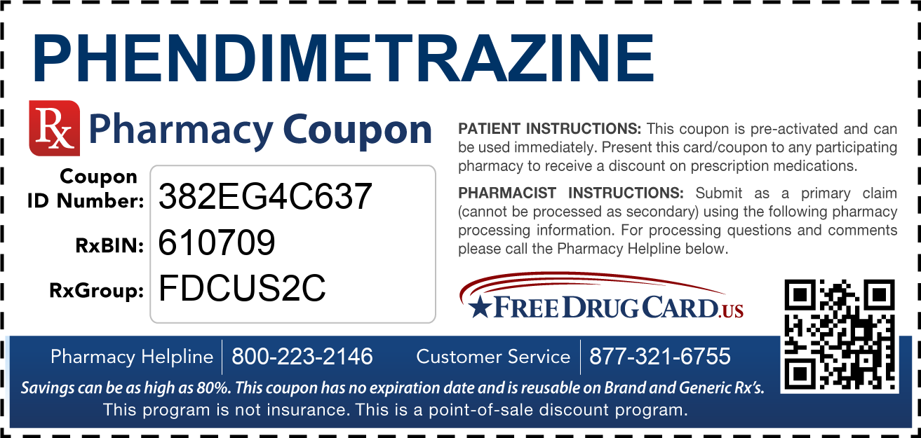 Discount Phendimetrazine Pharmacy Drug Coupon