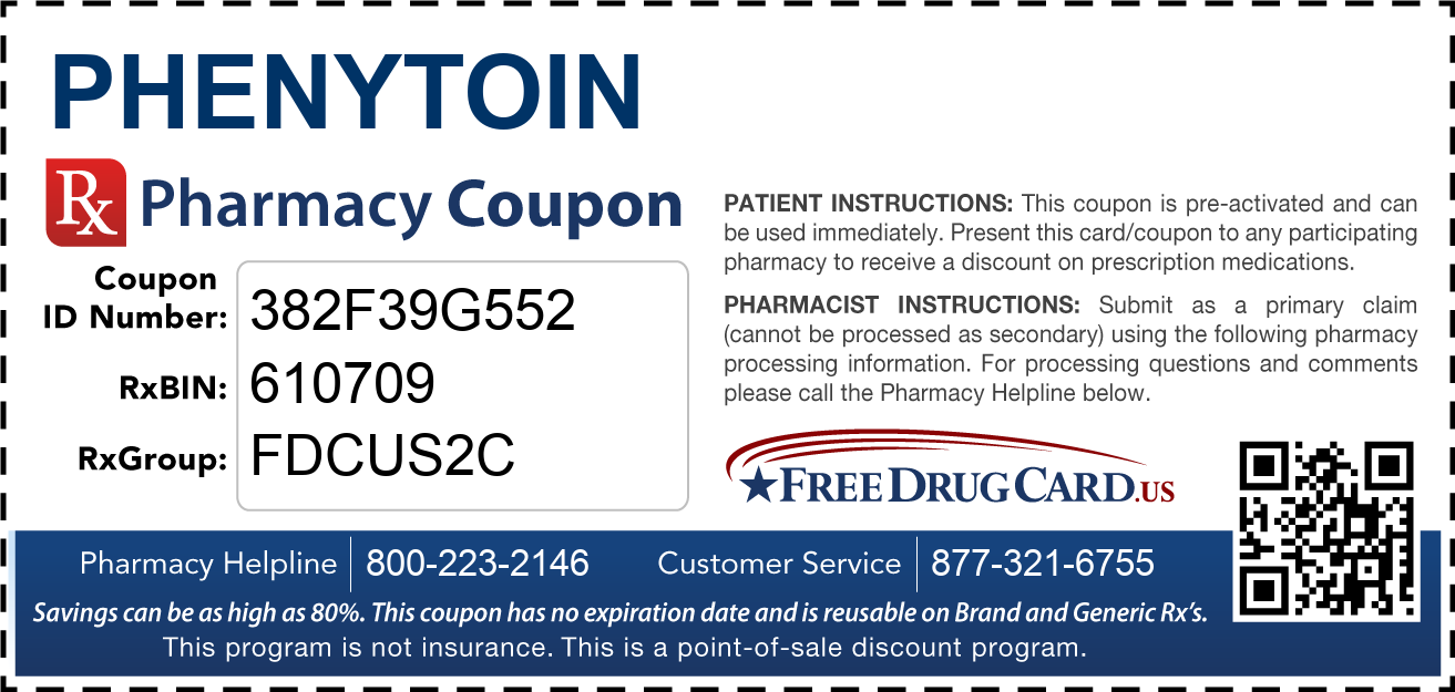 Discount Phenytoin Pharmacy Drug Coupon