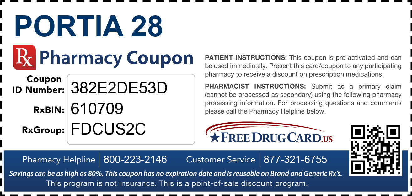 Discount Portia 28 Pharmacy Drug Coupon