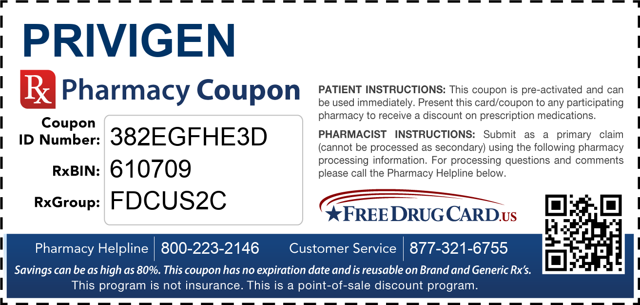 Discount Privigen Pharmacy Drug Coupon