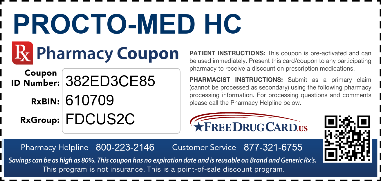 Discount Procto-Med HC Pharmacy Drug Coupon