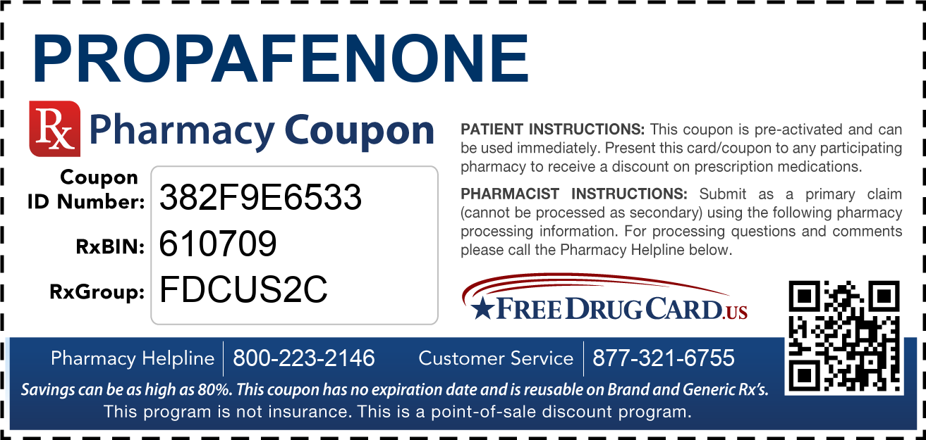 Discount Propafenone Pharmacy Drug Coupon