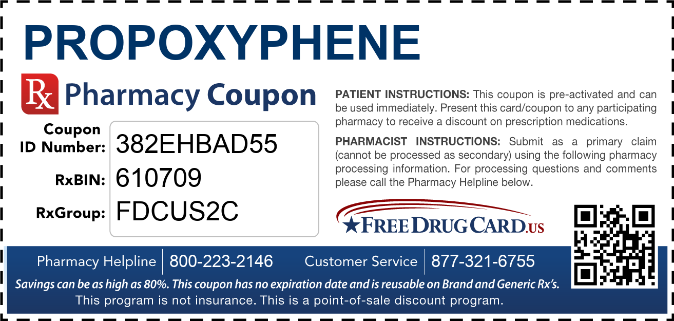 Discount Propoxyphene Pharmacy Drug Coupon