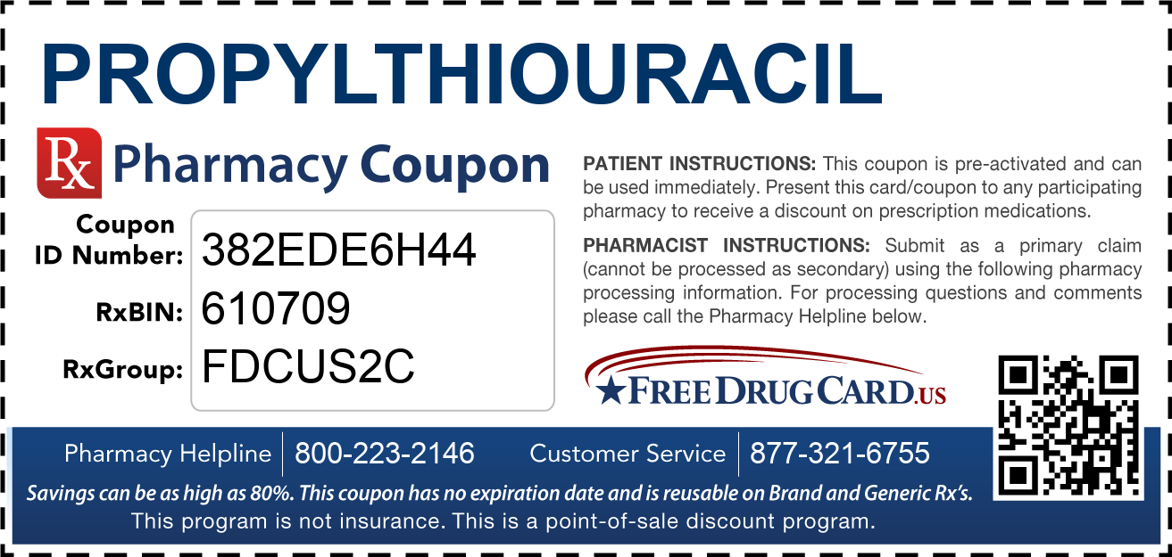 Discount Propylthiouracil Pharmacy Drug Coupon