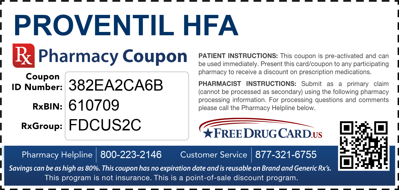 Discount Proventil HFA Pharmacy Drug Coupon