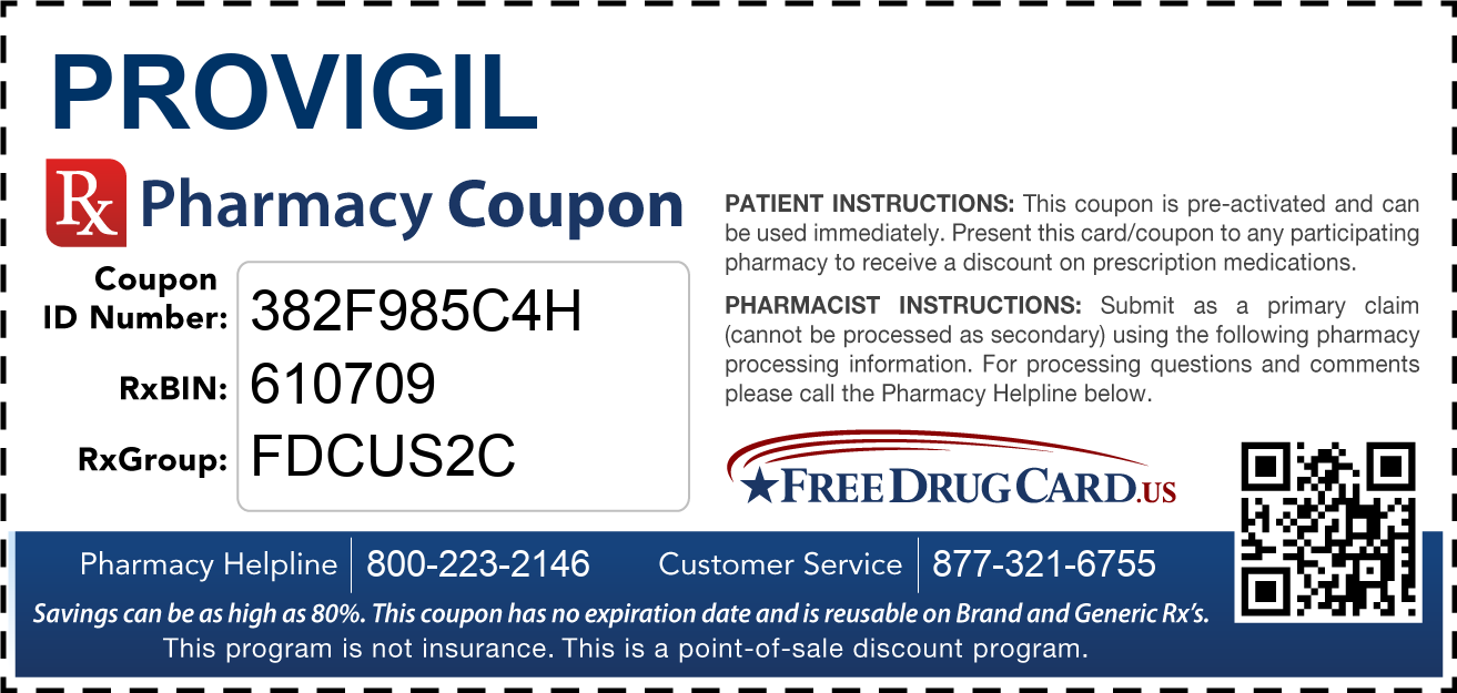 Discount Provigil Pharmacy Drug Coupon