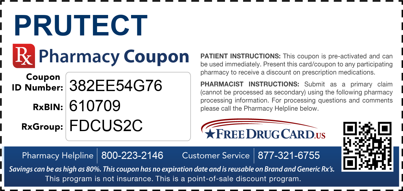 Discount Prutect Pharmacy Drug Coupon