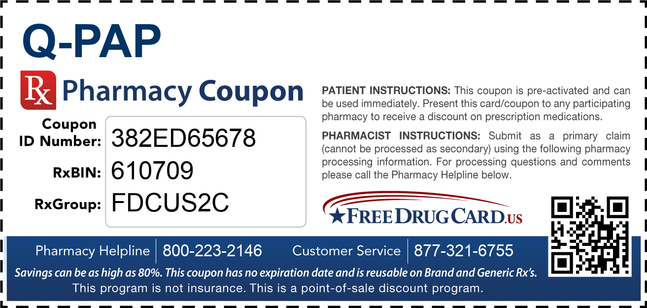 Discount Q-Pap Pharmacy Drug Coupon