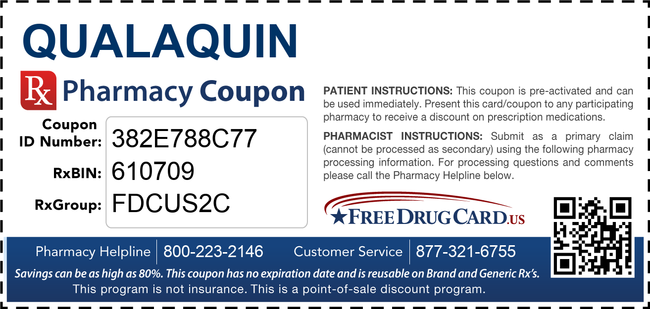 Discount Qualaquin Pharmacy Drug Coupon