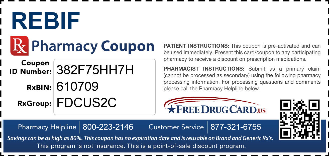 Discount Rebif Pharmacy Drug Coupon