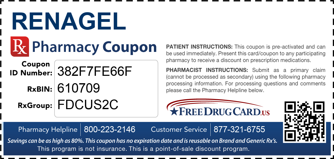 Discount RenaGel Pharmacy Drug Coupon