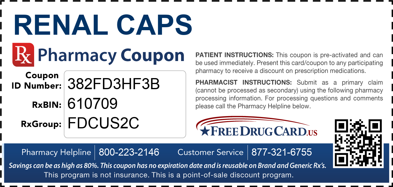 Discount Renal Caps Pharmacy Drug Coupon
