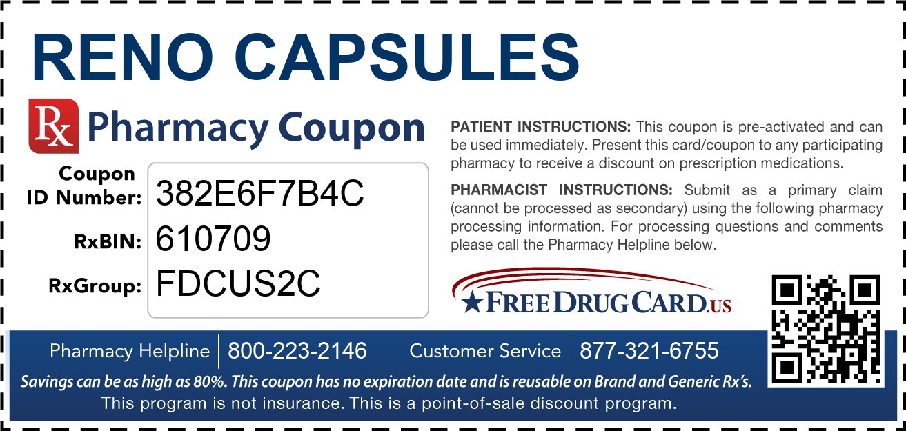 Discount Reno Capsules Pharmacy Drug Coupon
